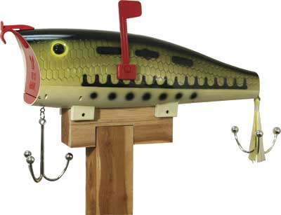 Poly Baby Bass Fishing Lure Mailbox